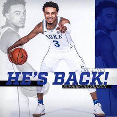 I'm so glad he's coming back. Thank you Tre. Basketball Memes, Basketball Coach, College Basketball, Boys Who, My Boys, Duke Bball, Virginia Basketball, Coach K, Duke Blue Devils