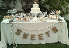 CREE Estate Wedding Dessert Table