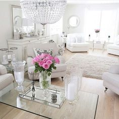 Cream & White Living room decor