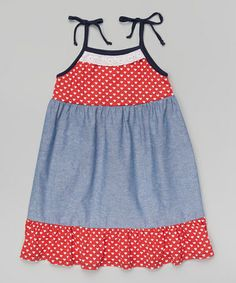 Another great find on #zulily! Red Heart Stripe Ruffle Dress - Toddler & Girls #zulilyfinds