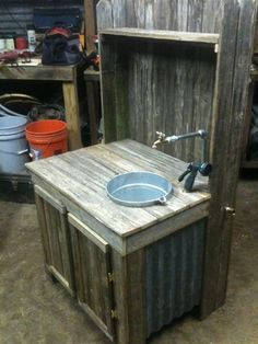 garden work bench with undermount sink - Google Search