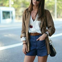 Zara patch pockets high waist shorts High waist dress shorts. Chambray denim style Zara Shorts