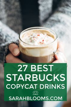 Save $1,000's every year by making your favorite coffeehouse drinks at home with these 27 Best Starbucks Copycat Drinks! #starbuckscopycat #starbuckscopycatrecipes #starbucksrecipes #coffeedrinks #hotdrinks #latterecipe Frugal Meals, Frugal Recipes, Cheap Meals, Budget Meals, Fall Recipes, Great Recipes, Starbucks Strawberry, Make Your Own Coffee, Gingerbread Latte