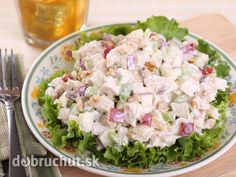 Make this chicken waldorf salad recipe and serve over a fresh curled leaf lettuce. A super nutritious and tasty salad. Chicken Waldorf Salad Recipe from Grandmothers Kitchen. Ranch Chicken Salad Recipe, Chicken Recipes, Waldorf Salad, Cooking Recipes, Healthy Recipes, Soup And Salad, Healthy Eating, Favorite Recipes, Dinner