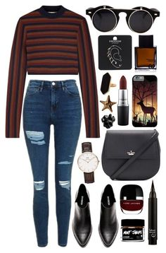 """Untitled #498"" by clary94 ❤ liked on Polyvore featuring Topshop, Victoria Beckham, Kate Spade, Daniel Wellington, Marc Jacobs, Odin, MAC Cosmetics, Jaeger, Justine Brooks and Macabre Gadgets"