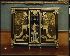 Pair of Cabinets | Royal Collection Trust Attributed to Andre Charles  Boulle (1642-1732) Ebony,oak.tortoise shell,gilt bronze,brass.
