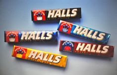 Davis | Retro Halls packaging. #TBT Package Design, Best Brand, Over The Years, Packaging, Candy, Retro, Packaging Design, Candles, Design Packaging