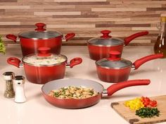Sua Cozinha mais bonita! Conjunto de Panelas Brinox Alumínio 5 Peças - Ceramic Life 4.5 Colour 4720/100