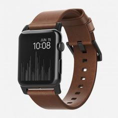 The Nomad Leather Strap for Apple Watch. Fits for Apple Watch Series and featuring rustic brown Horween leather. Apple Watch 42mm, Gold Apple Watch, Apple Watch Iphone, Apple Watch Series 2, Apple Watch Bands, Apple Watch Straps, Iphone 8 Plus, Iphone 7, Desktop