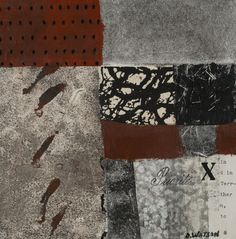 """Movements, collage by Donna Watson, 8""""x8"""", for sale at Etsy.com"""
