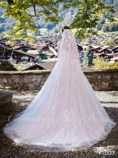 Wedding Dress - Sans Pareil Bridal Collection 1058 - floral appliques embellish yoke of full-sleeve chiffon gown Bridal Dresses, Wedding Gowns, Bridal Stores, Chiffon Gown, Layered Skirt, Bridal Collection, Floral Lace, Dream Wedding, Bridesmaid