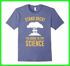 Mens Stand Back I'm Going To Try Science Teacher Student T-shirt 2XL Heather Blue - Math science and geek shirts (*Amazon Partner-Link)