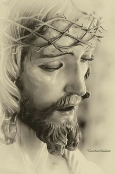 Christ Tattoo, Jesus Tattoo, Religious Images, Religious Art, Dark Art Tattoo, Religious Tattoos, Jesus Painting, Jesus Face, The Cross Of Christ