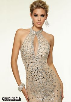 Prom Dresses / Gowns Style 97106: Stretch Mesh with Crystal Beading http://www.morilee.com/prom/paparazzi/97106