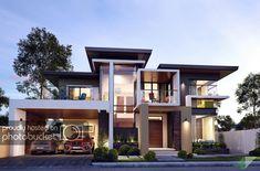 Zen House Design, Modern Villa Design, House Front Design, Modern Architecture House, Concept Architecture, Big Houses Exterior, Modern Family House, Model House Plan, New Home Designs