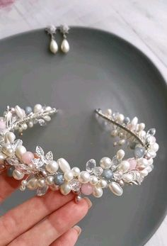 Wedding Headband, Pearl Headband, Bridal Crown, Crown Headband, Bridal Updo, Hair Jewelry, Beaded Jewelry, Wire Jewelry Designs, Bride Hair Accessories