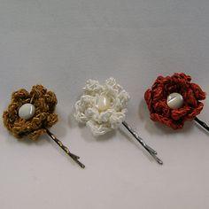 Set de 3 bijoux de cheveux 'Fleur' par ByMima sur Etsy, €12.00
