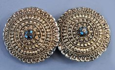 gilt silver with turquoise earrings Nepal  (collection  of Linda Pastorino)