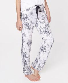 Floral watercolour print pants - OYSHO