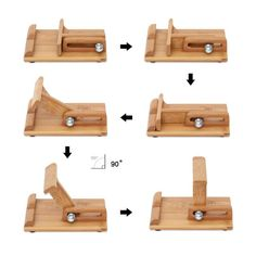 Bamboo Adjustable Cell Phone Smartphone Stand Holder - Iphone Holder - Ideas of Iphone Holder - Bamboo Adjustable Cell Phone Smartphone Stand Holder Diy Phone Stand, Desk Phone Holder, Iphone Holder, Tablet Stand, Woodworking Toys, Woodworking Workshop, Woodworking Projects, Woodworking Patterns, Woodworking Supplies