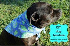 Sew, Cook, Laugh and Live: DIY Dog bandana. {sewing tutorial}