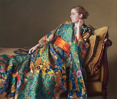 "Evan Wilson (1953- ) ""The Peacock Kimono"" by Art & Vintage, via Flickr"