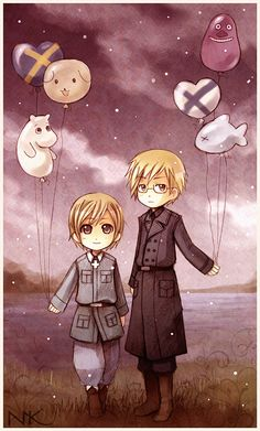 APH Balloons by Hetalia on DeviantArt - Sweden and Finland, SuFin maybe? *o*