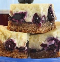 These sweet and tangy bars are one of Betty's most popular recipes of all time! The streusel topping takes no time at all, and the crust is extra easy with the help of graham crackers. You can use thawed frozen blueberries in place of fresh—or even sub in blackberries or raspberries. Pro tip: To chill the bars faster and make cutting them easier, place them in the freezer for about 20 minutes.