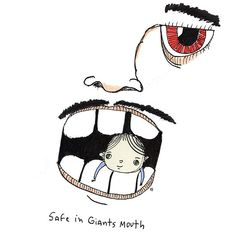 safe in giants mouth Bee Drawing, Mouth Drawing, Snoopy, Sketch, Spirit, Comics, Drawings, Illustration, House