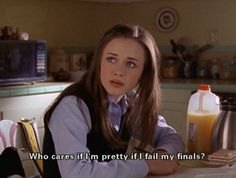 Discover and share Rory Gilmore Girls Quotes. Explore our collection of motivational and famous quotes by authors you know and love. Cabelo Rory Gilmore, Rory Gilmore Hair, Rory Gilmore Style, Citations Film, Movie Lines, Film Quotes, Up Movie Quotes, Classic Movie Quotes, Funny Quotes