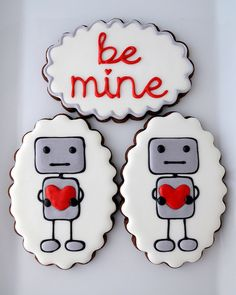 Romantic robot cookies