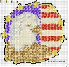 Patriotic Eagle wall hanging