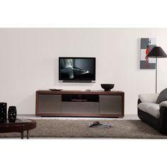 B-Modern Esquire TV Stand in Light Walnut by B-Modern