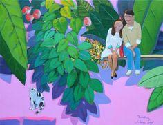 garden-love / Oil on Canvas, 2013 / 53.0 x 40.9 cm (20.9 x 16.1 inch)