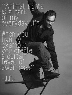 Actor Joaquin Phoenix, Ⓥegan
