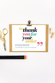 23 best business thank you cards images on pinterest business