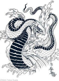 Image result for japanese snake tattoo