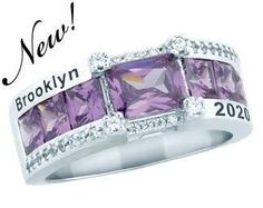"""This stunning Sterling Silver """"special edition"""" ring captures your sense of fashion! The band of square stones and cubic zirconia accent stones make this ring unique."""