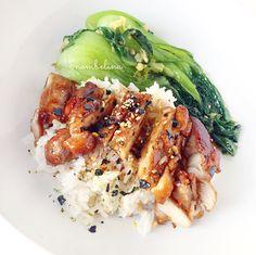 Chicken teriyaki with braised bok choy - Nombelina.com