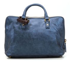 wardow.com - Tasche von Liebeskind, Metallic Suede Koko Handtasche Leder blau 41 cm