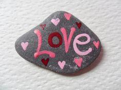 Love++Hand+painted+beach+slate+art+fridge+by+ShePaintsSeaglass