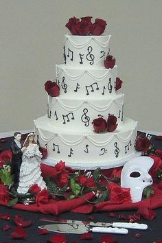 I found 'Phantom of the Opera Wedding Cake' on Wish, check it out! This is a little much