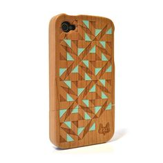 Hardwood iPhone Cover  by A Skulk of Foxes