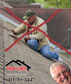 Are you sure you want to leave something as important as roof repair to a Handy Man?  You have a choice.  Choose Wisely.  Choose Harvath Roofing. #BradentonRoofingCompany