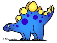 Free Cute Dinosaur Clip Art | Dinosaur Art - Draw a Stegosaurus Dinosaur Picture