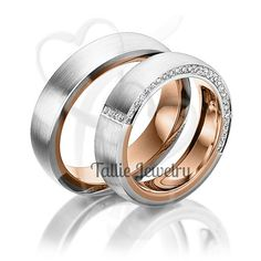 His & Hers Mens Womens Matching 10K White and Rose Gold Two Tone Gold Wedding Bands Rings Set 6mm/6mm Wide Sizes 4-12 Free Engraving New