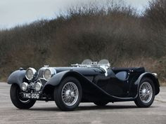1937 Jaguar SS100 - 2 1/2 Litre Roadster, one of the most sought after pre-war sports cars.