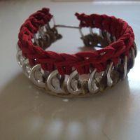 Suede Crochet Pop Tab Bracelet