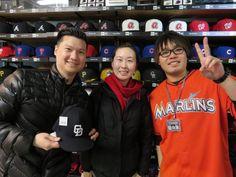 【ベースボール館】2015.03.06 台湾からご来店頂きました\(^o^)/中日のキャップをご購入いただきました☆またのご来店お待ちしております!
