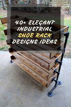 40+ Elegant Industrial Shoe Rack Designs Ideas You Will Love #rackdesignsideas Industrial Shoe Rack, Shoe Rack Closet, Rack Design, House Design, Elegant, Furniture, Ideas, Home Decor, Classy